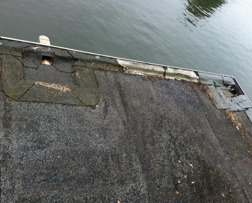 bitumen dak herstellen