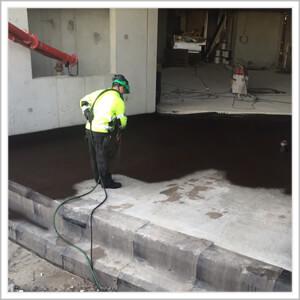 vloeibaar rubber op beton