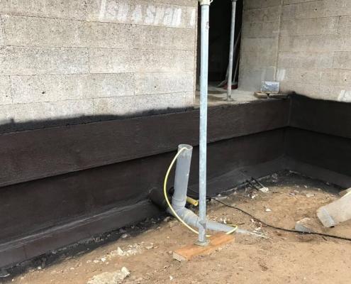 Waterproofing coating basement