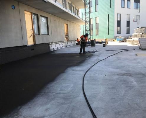 Sealant concrete basement