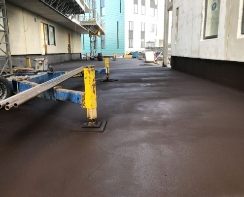 Waterproof coating basement