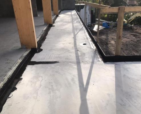 Waterproofing balcony coating