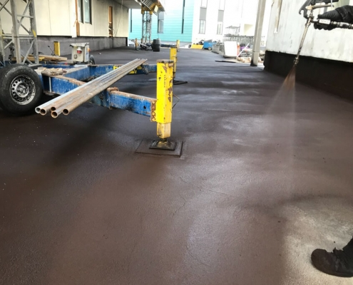Waterproofing concrete basement