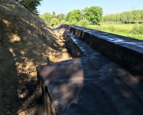 Waterproofing concrete sealing