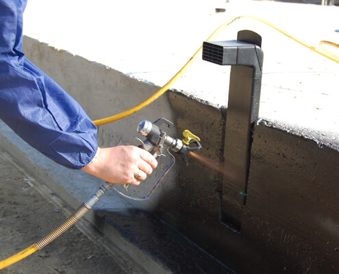 Liquid spraycoating