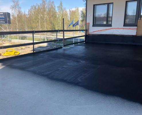 Waterproof concrete parking deck