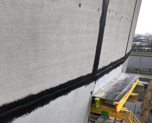 Waterproofing prefab facade elements