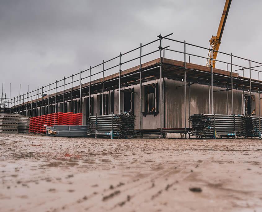 Airtight seal construction site